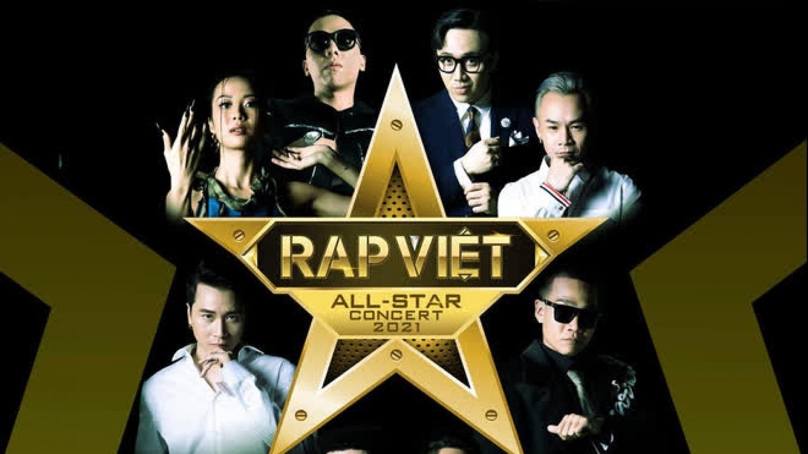 """Concert """"Rap Việt All-Star 2021"""" tạm hoãn vì diễn biến phức tạp của dịch Covid-19"""