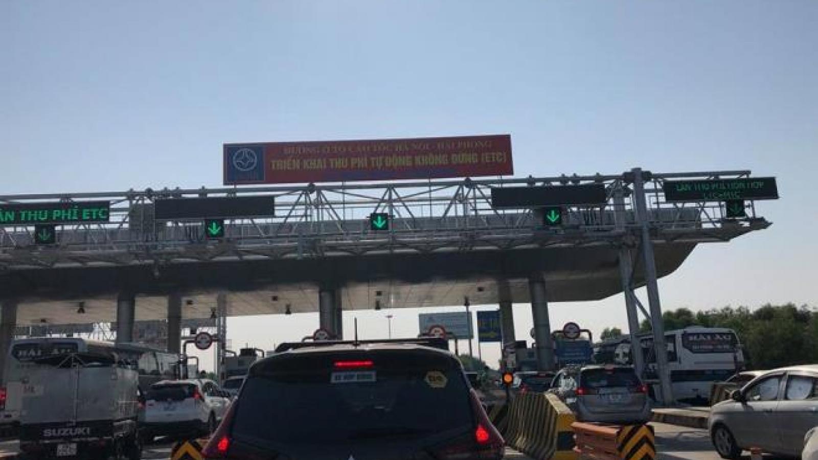 Cao tốc Hà Nội - Hải Phòng: 10% lượng xe lưu thông dùng phí tự động không dừng