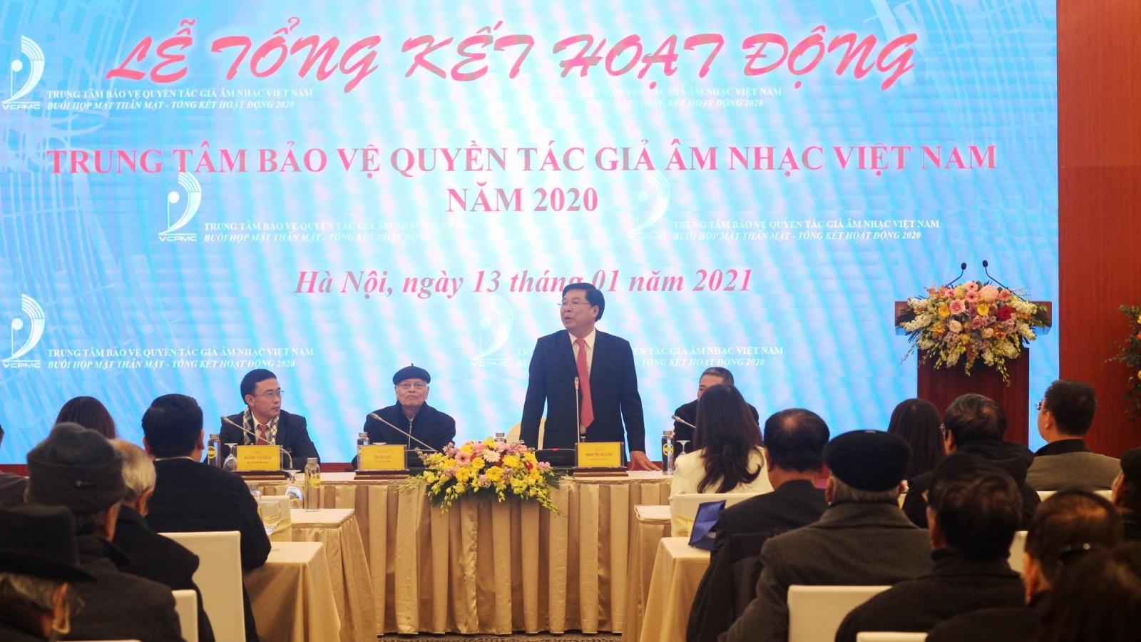 Trung tâm Bảo vệ Quyền Tác giả Âm nhạc Việt Nam thu hơn 150 tỷ đồng trong năm 2020