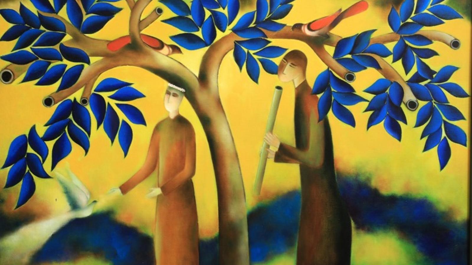 """Nhà thơ Nguyễn Quang Thiều: """"Tôi là người đi ngang qua cánh đồng hội họa"""""""