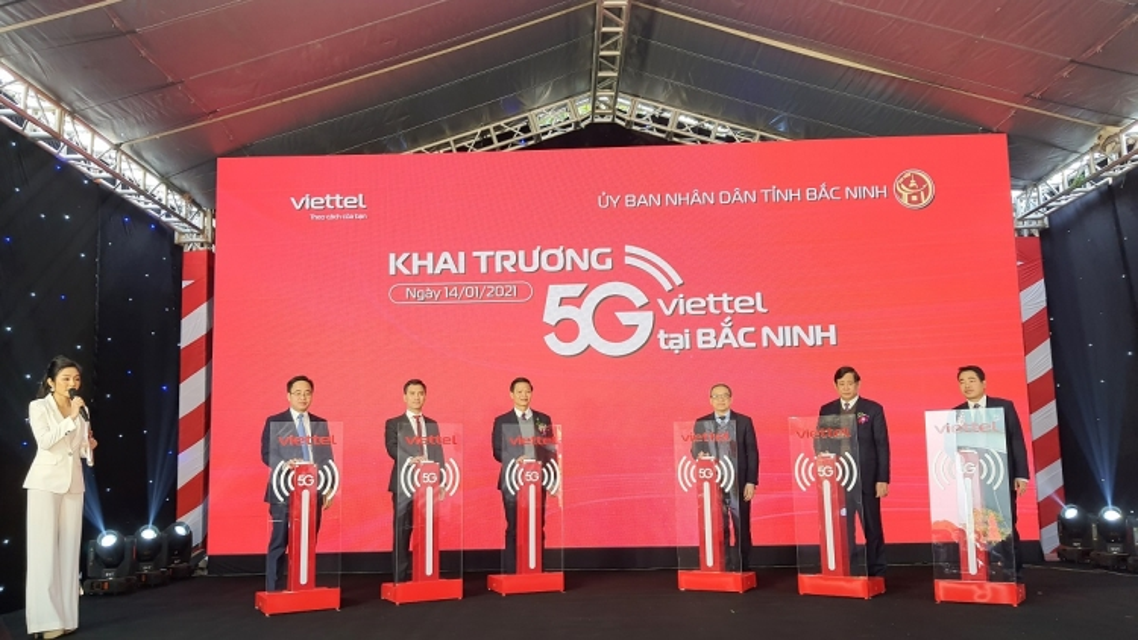 Bắc Ninh khai trương mạng 5G đầu tiên tại khu công nghiệp