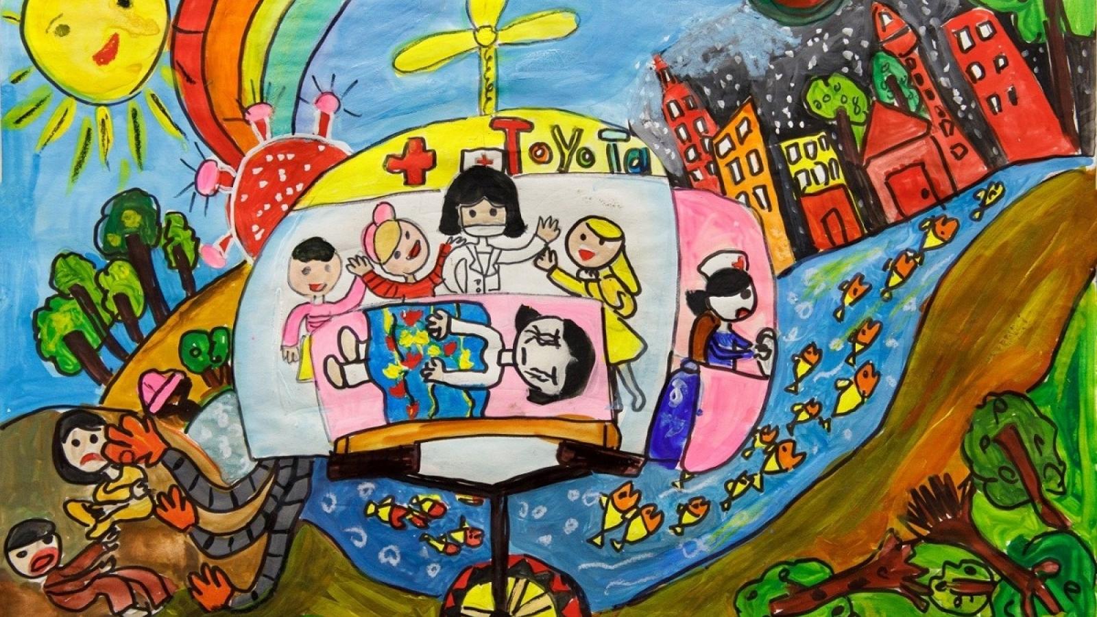 """160 tác phẩm xuất sắc đạt giải cuộc thi Vẽ tranh Quốc tế """"Chiếc ô tô mơ ước"""" lần thứ 10"""