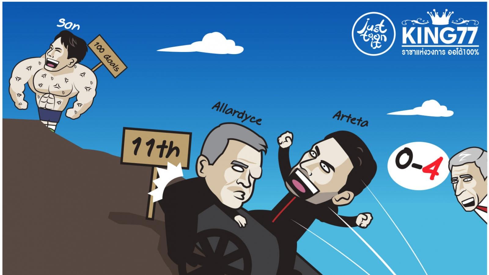 """Biếm họa 24h: Arteta tăng tốc, Solskjaer """"chung mâm"""" với Klopp"""