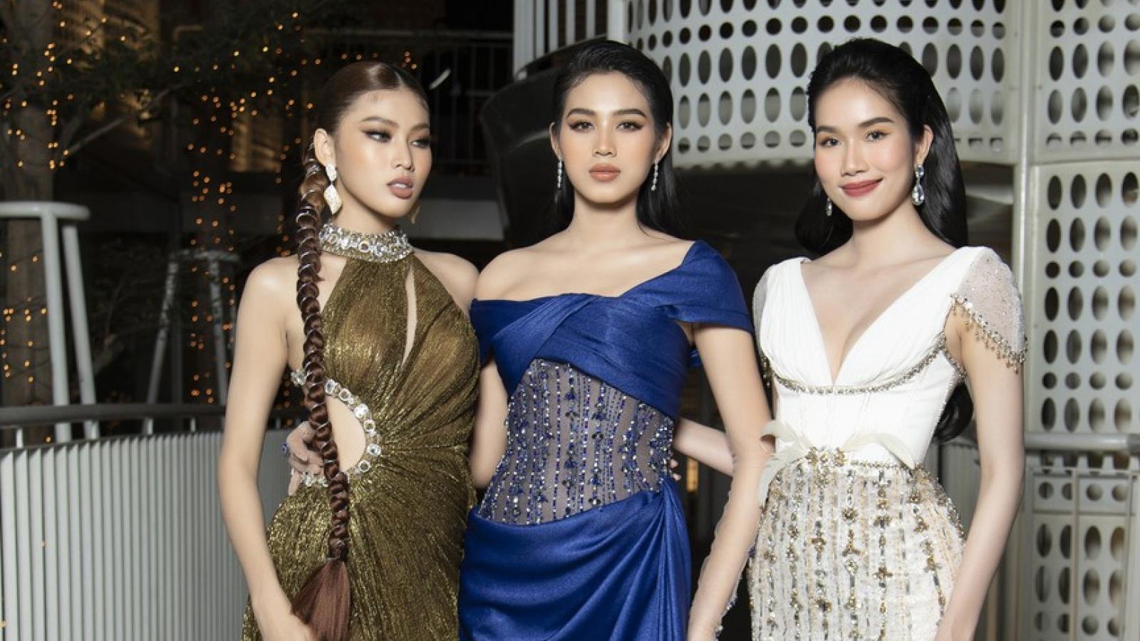 Top 3 Hoa hậu Việt Nam diện đầm cắt xẻ khoe vẻ đẹp gợi cảm