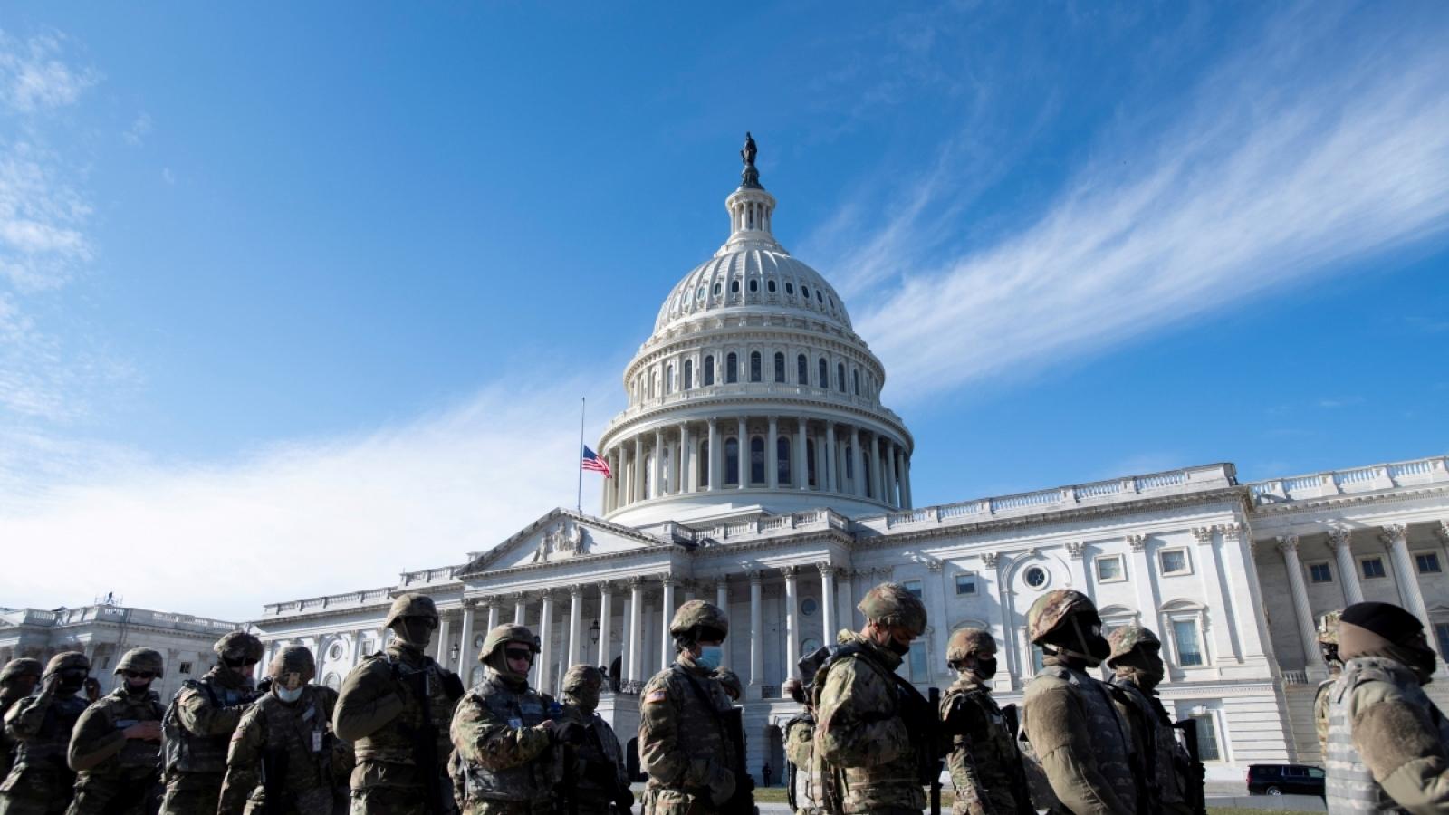 5.000 vệ binh quốc gia sẽ ở lại thủ đô Washington tới giữa tháng 3