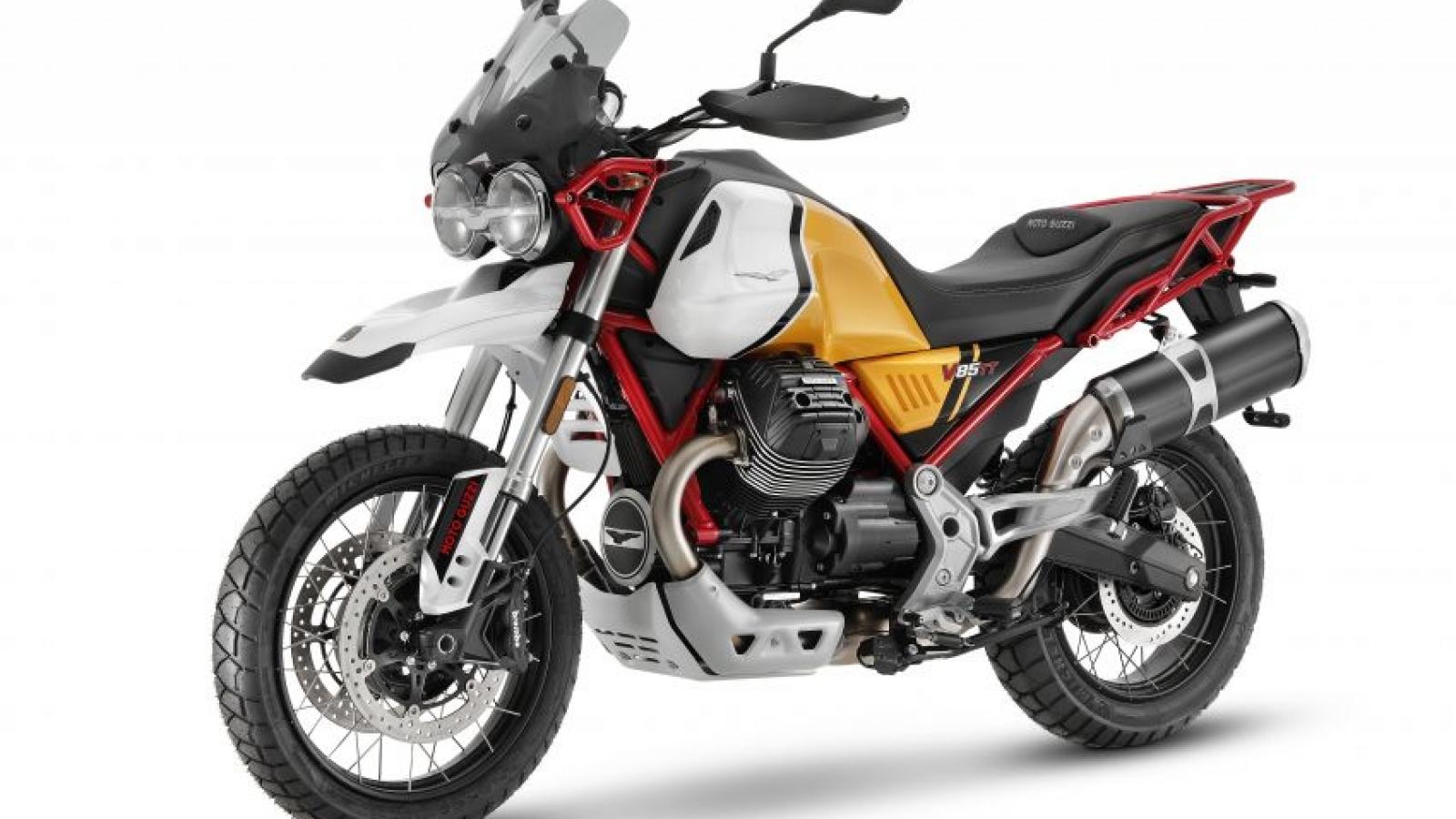 Moto Guzzi V85 TT 2021 thêm công nghệ và phiên bản mới