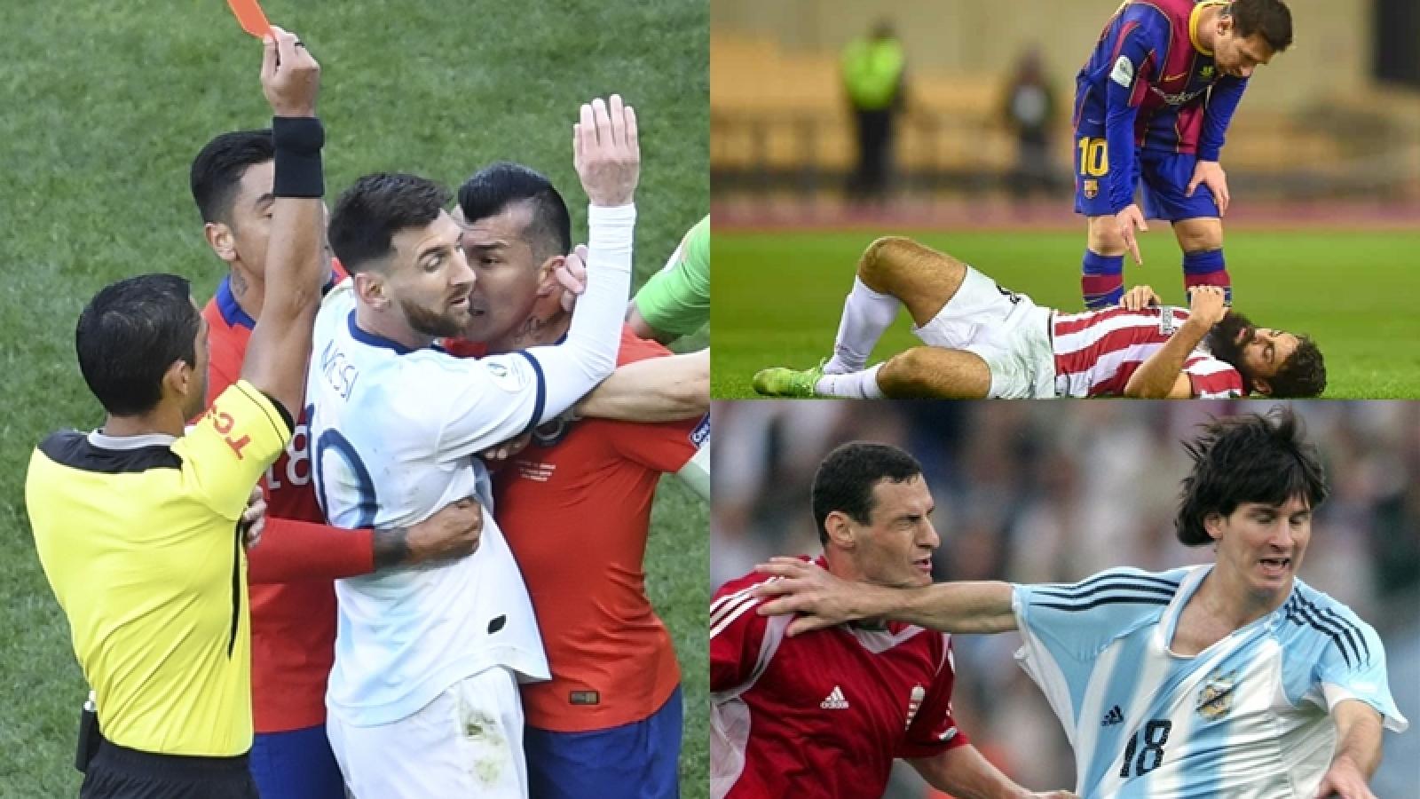 """3 đối thủ khiến Messi lĩnh thẻ đỏ vì """"bỏ bóng đánh người"""" là những ai?"""