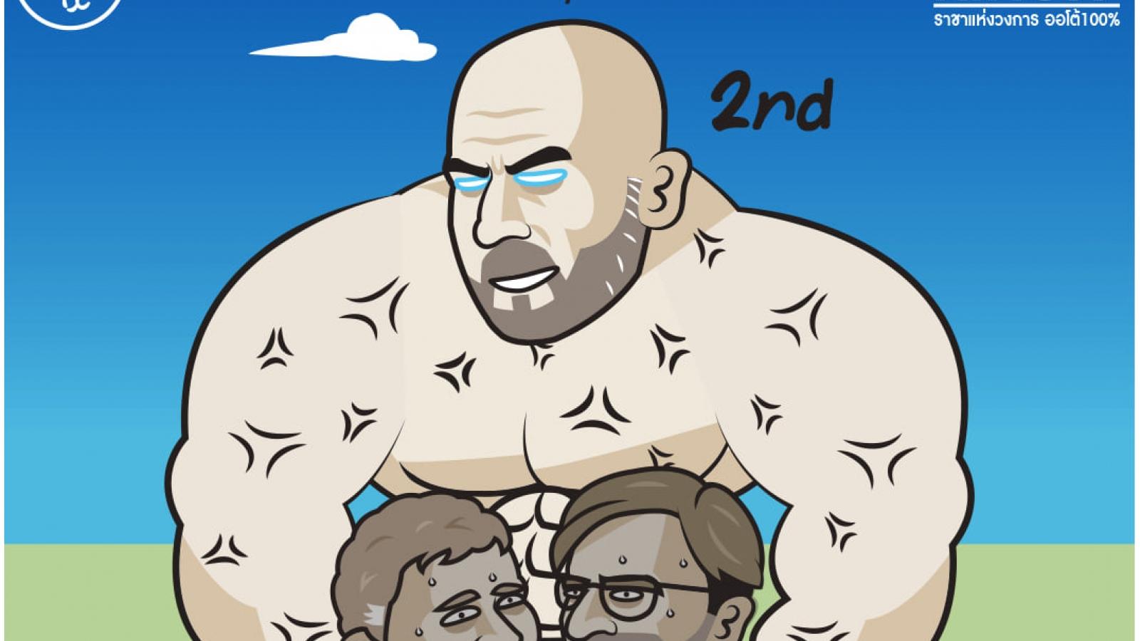 Biếm họa 24h: Pep Guardiola khoe cơ bụng 6 múi khiến Solskjaer toát mồ hôi