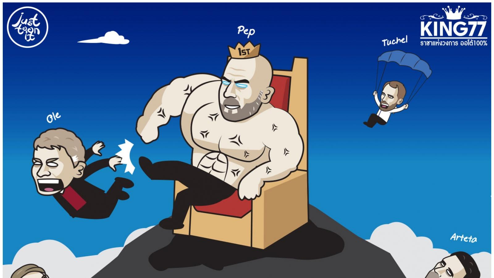 Biếm họa 24h: Ibrahimovic ôm hận vì đánh Lukaku, Guardiola đá bay Solskjaer
