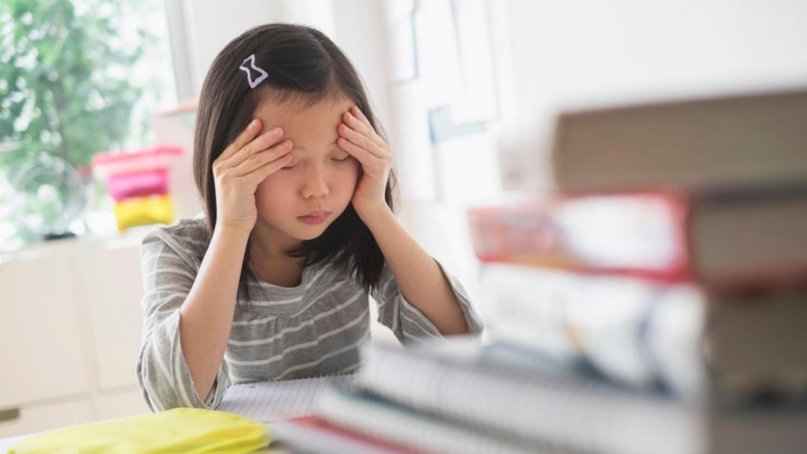 """Bố mẹ """"choáng váng"""" khi con trai học lớp 4 bị stress nặng"""