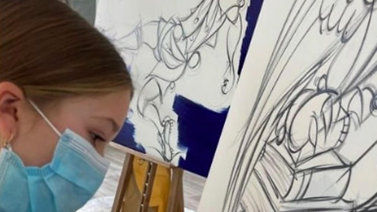 David Beckham hào hứng khoe tài hội họa của con gái cưng