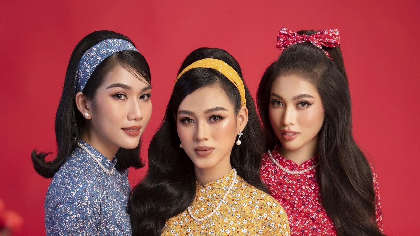Top 3 Hoa hậu Việt Nam 2020 hóa giai nhân xưa trong bộ ảnh Tết
