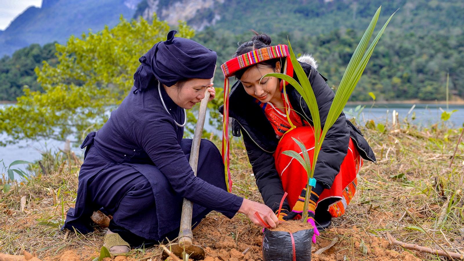 Top 10 Hoa khôi Du lịch Việt Nam trồng cây, lan tỏa vẻ đẹp Lâm Bình - Tuyên Quang