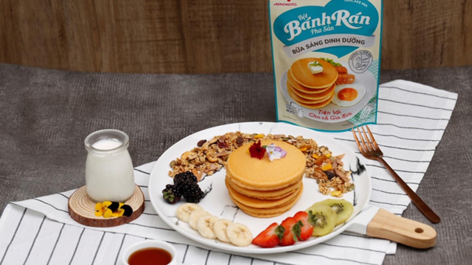 Bữa sáng chuẩn dinh dưỡng với Bột bánh rán từ Ajinomoto