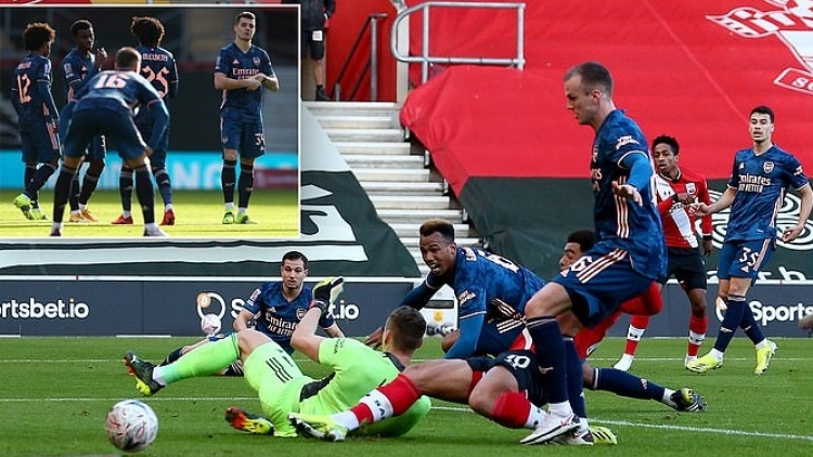 Hậu vệ đá phản lưới nhà, Arsenal bị Southampton loại khỏi FA Cup