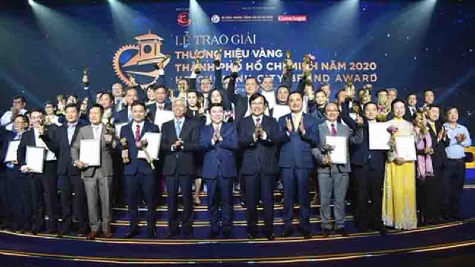 Thirty businesses win HCM City Golden Brand Award