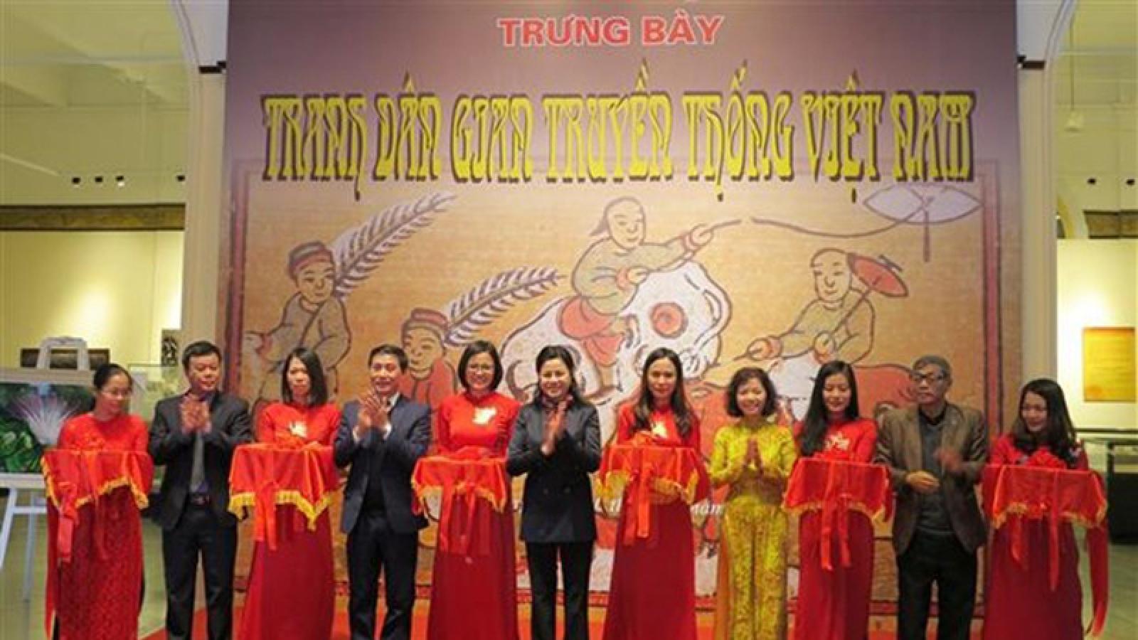Folk paintings displayed in Hai Phong