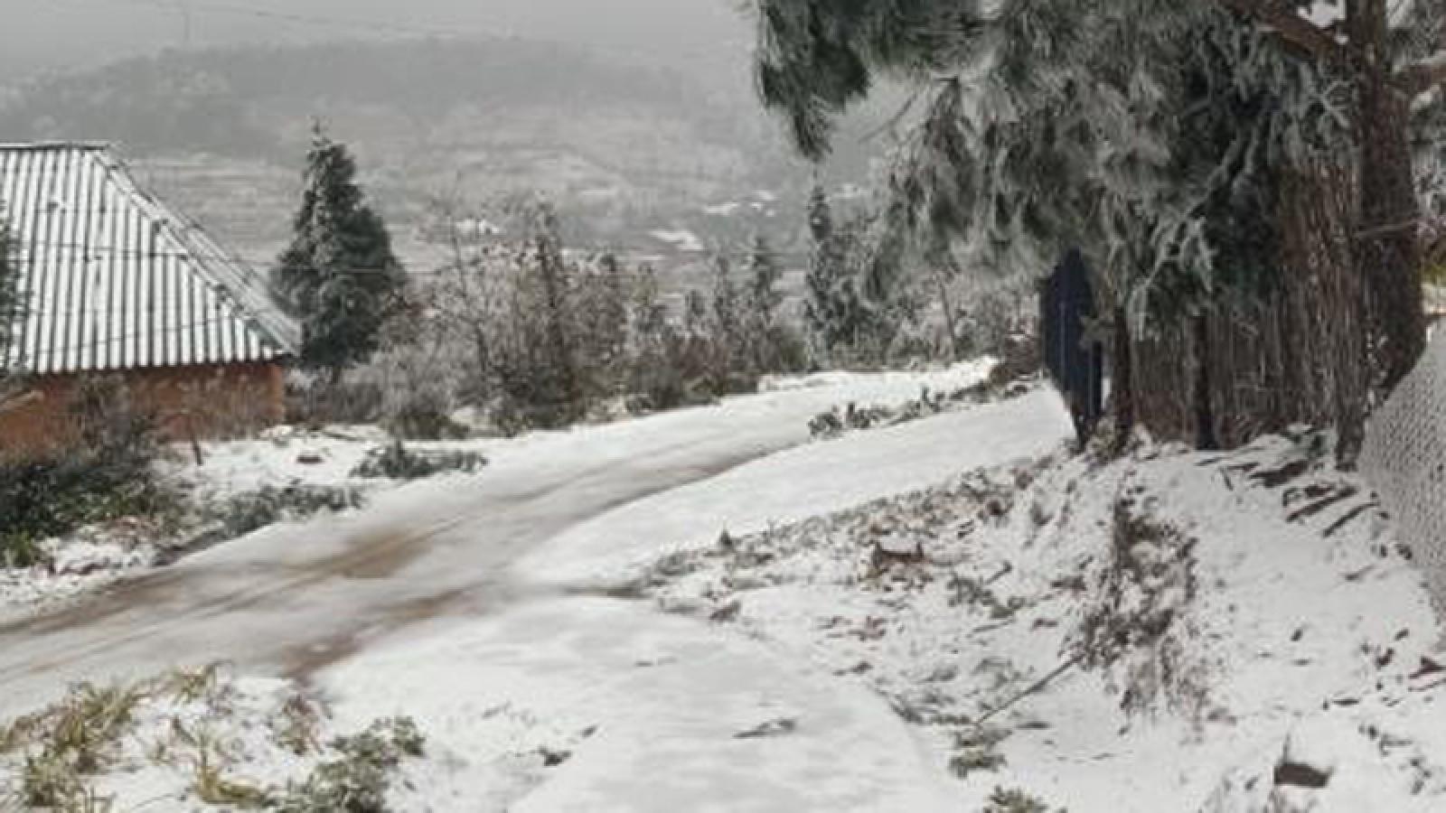 White snow transforms Y Ty commune into European-style village