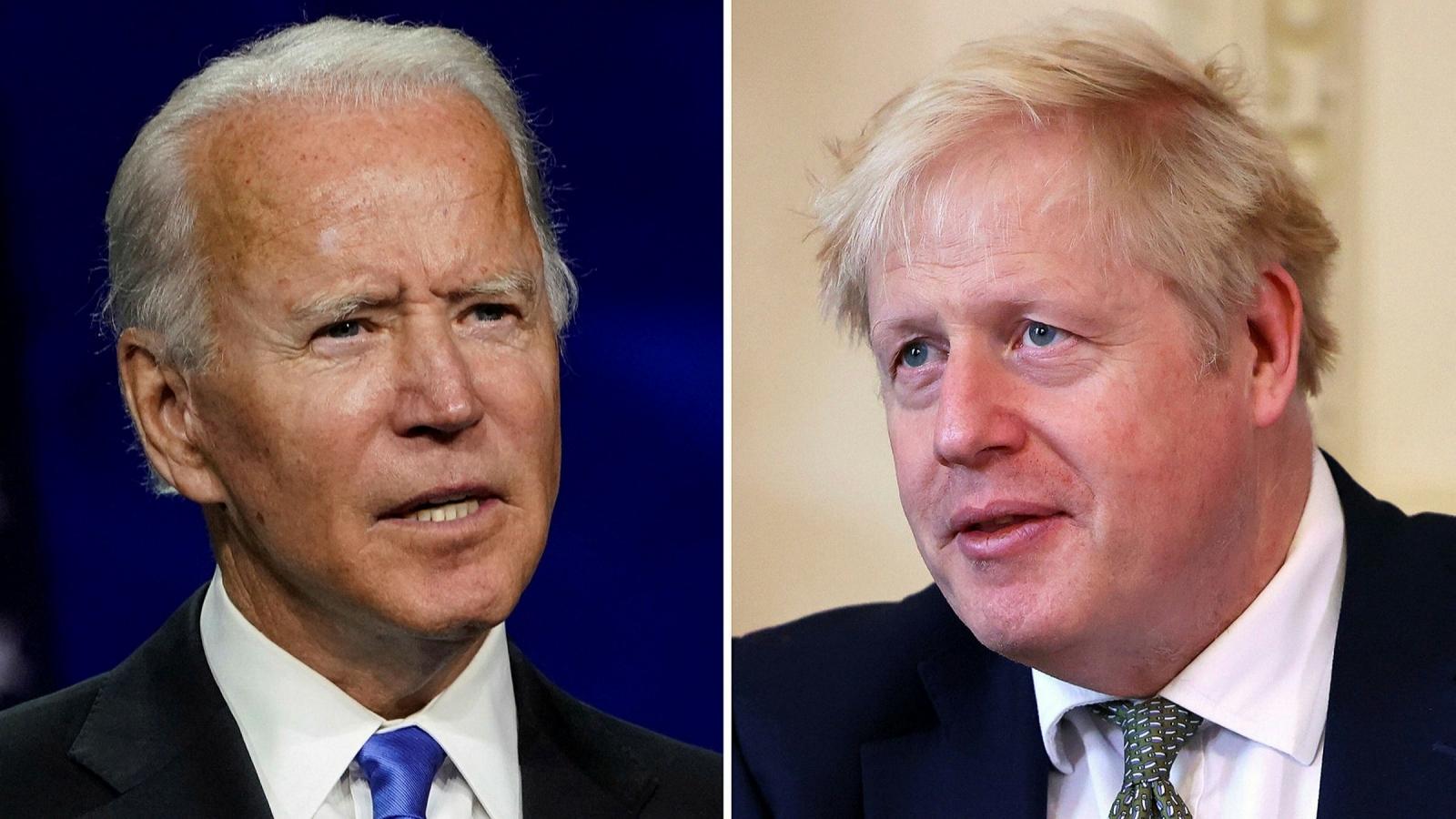 Thủ tướng Anh lần đầu điện đàm với Tổng thống Mỹ Joe Biden