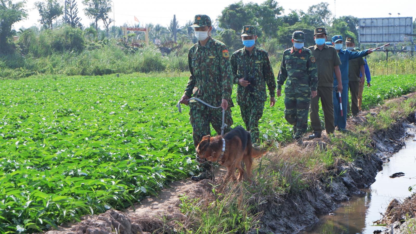 Quân và dân khu vực biên giới An Giang chung sức phòng, chống dịch Covid-19