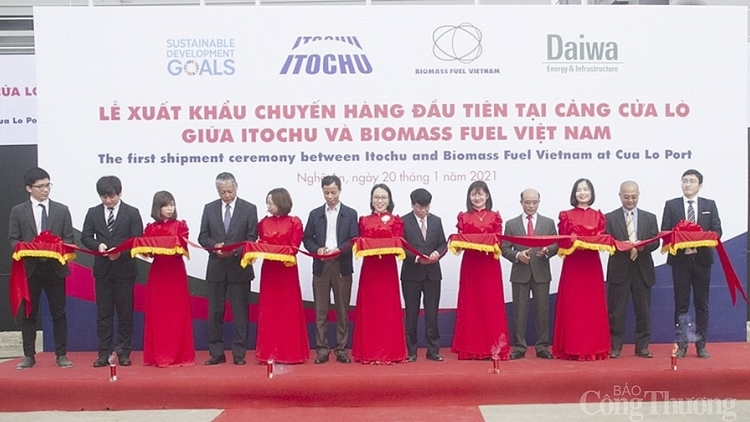 First batch of biomass wood pellets exported to Japan