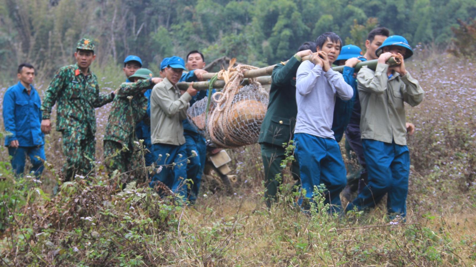 """Sơn La hủy nổ quả bom """"khủng"""" còn sót sau chiến tranh"""