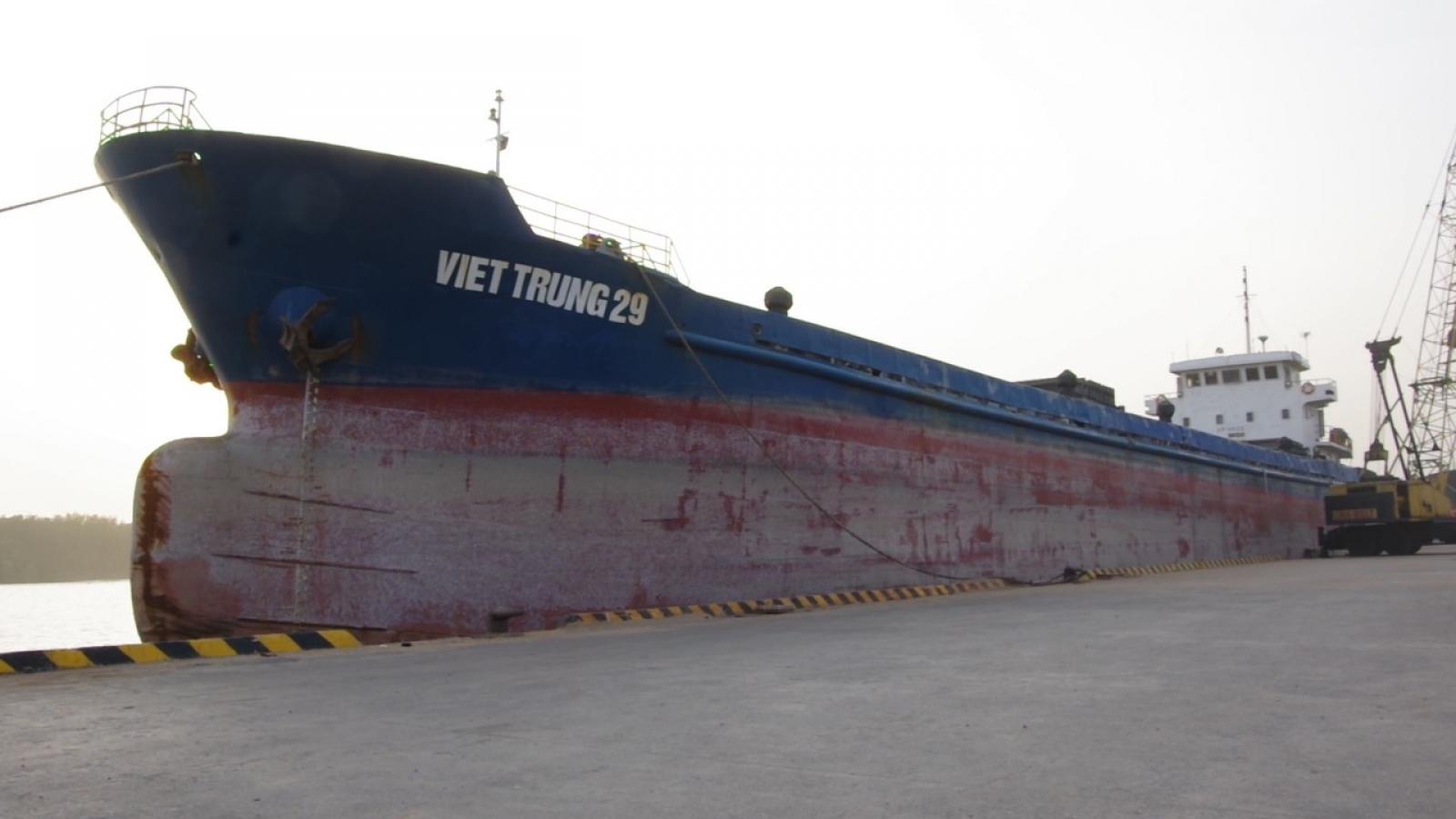 Điều tra tàu Việt Trung 29 vận chuyển bắp hạt có dấu hiệu trộm cắp tài sản
