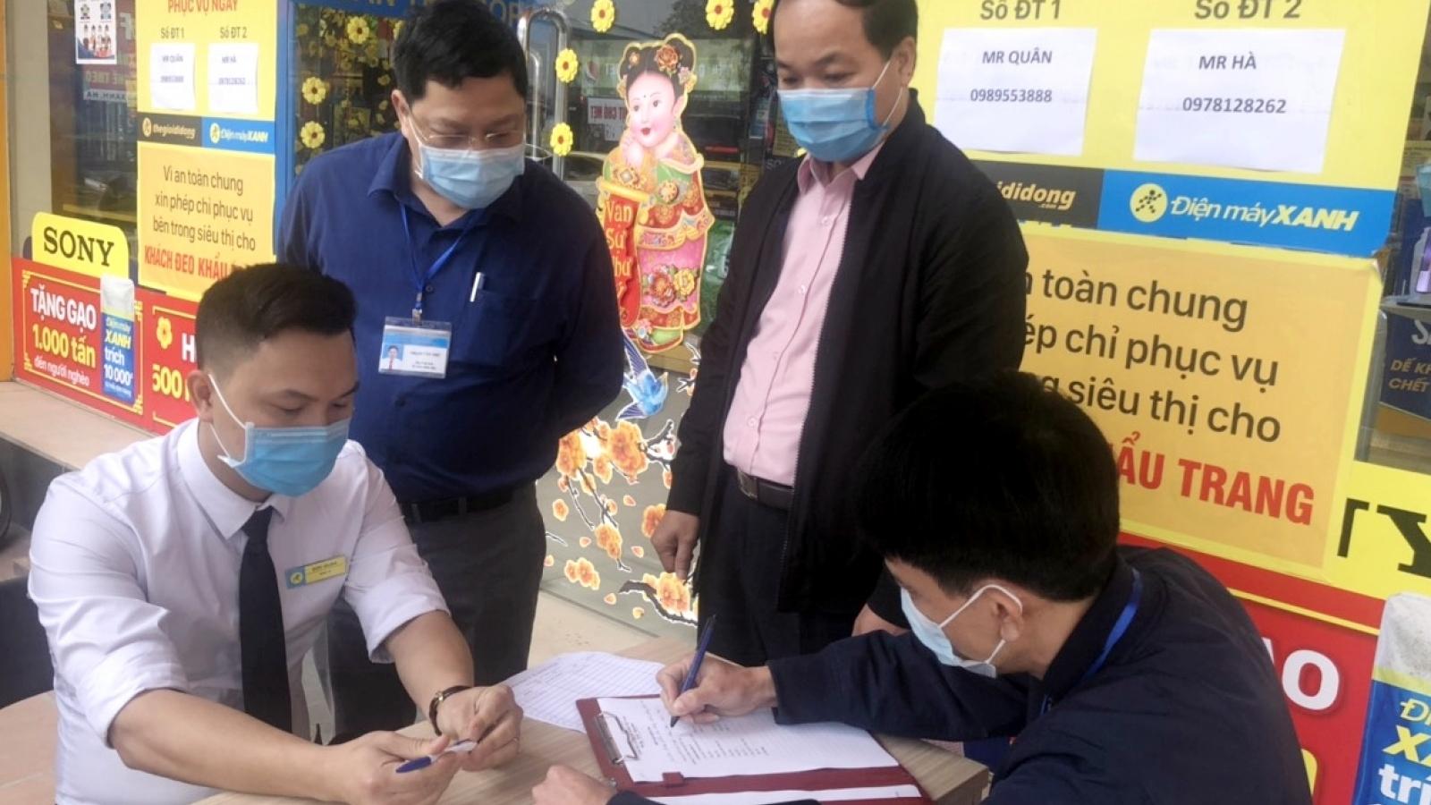 Quảng Ninh xử phạt 2 cửa hàng không chấp hành quy định phòng dịch Covid-19