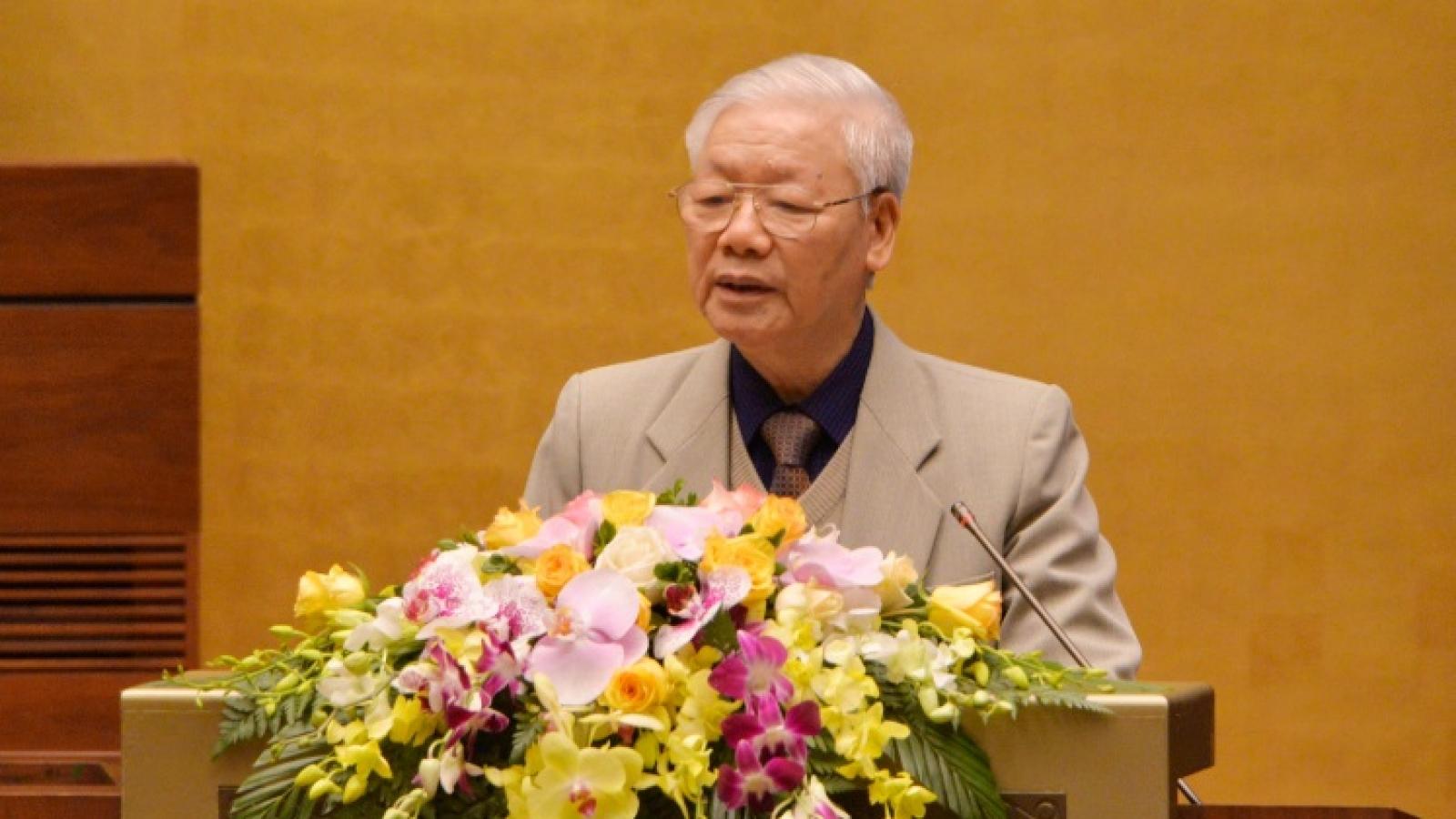 Phát biểu của Tổng Bí thư, Chủ tịch nước tại Hội nghị triển khai công tác bầu cử