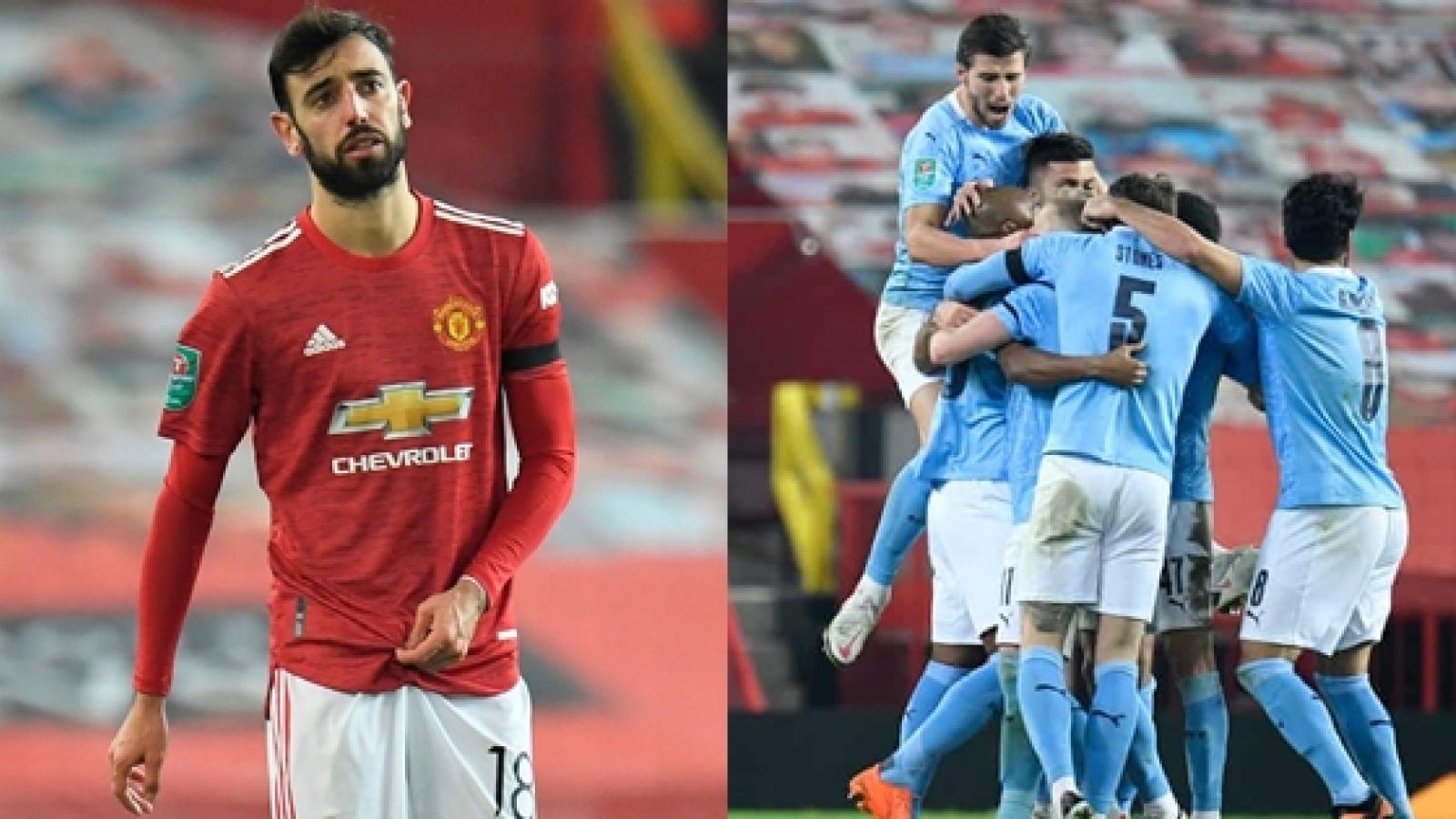 Chấm điểm MU 0-2 Man City: Bruno Fernandes lu mờ trước đồng hương