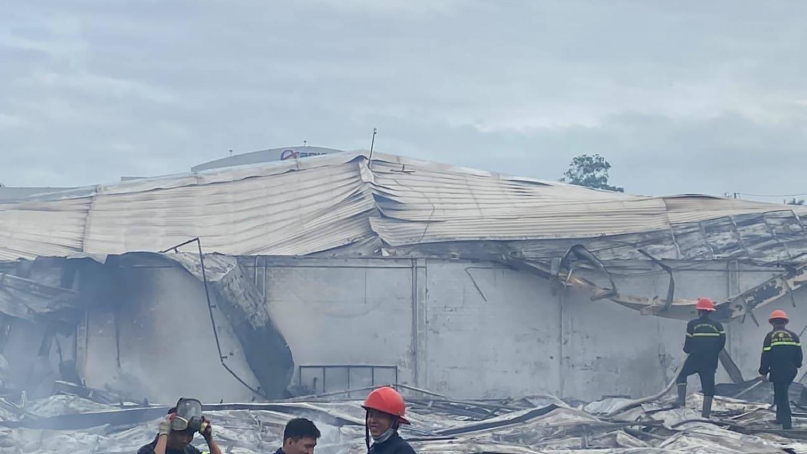 Cháy công ty may tại Bình Địnhthiệt hại 10 tỷ đồng