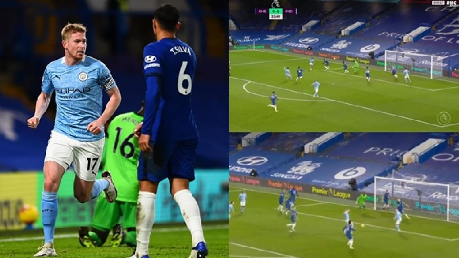 """Cận cảnh: Chelsea tái hiện bàn thua """"như đội U10"""" của MU"""