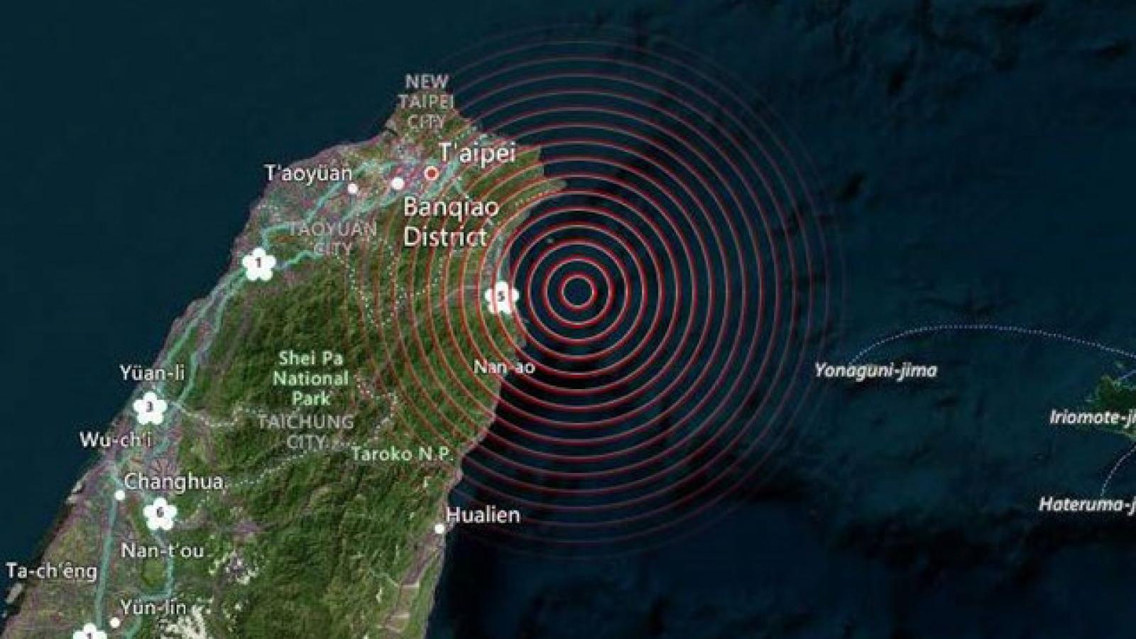 Động đất mạnh 5,7 độ richter tại Đài Loan(Trung Quốc)