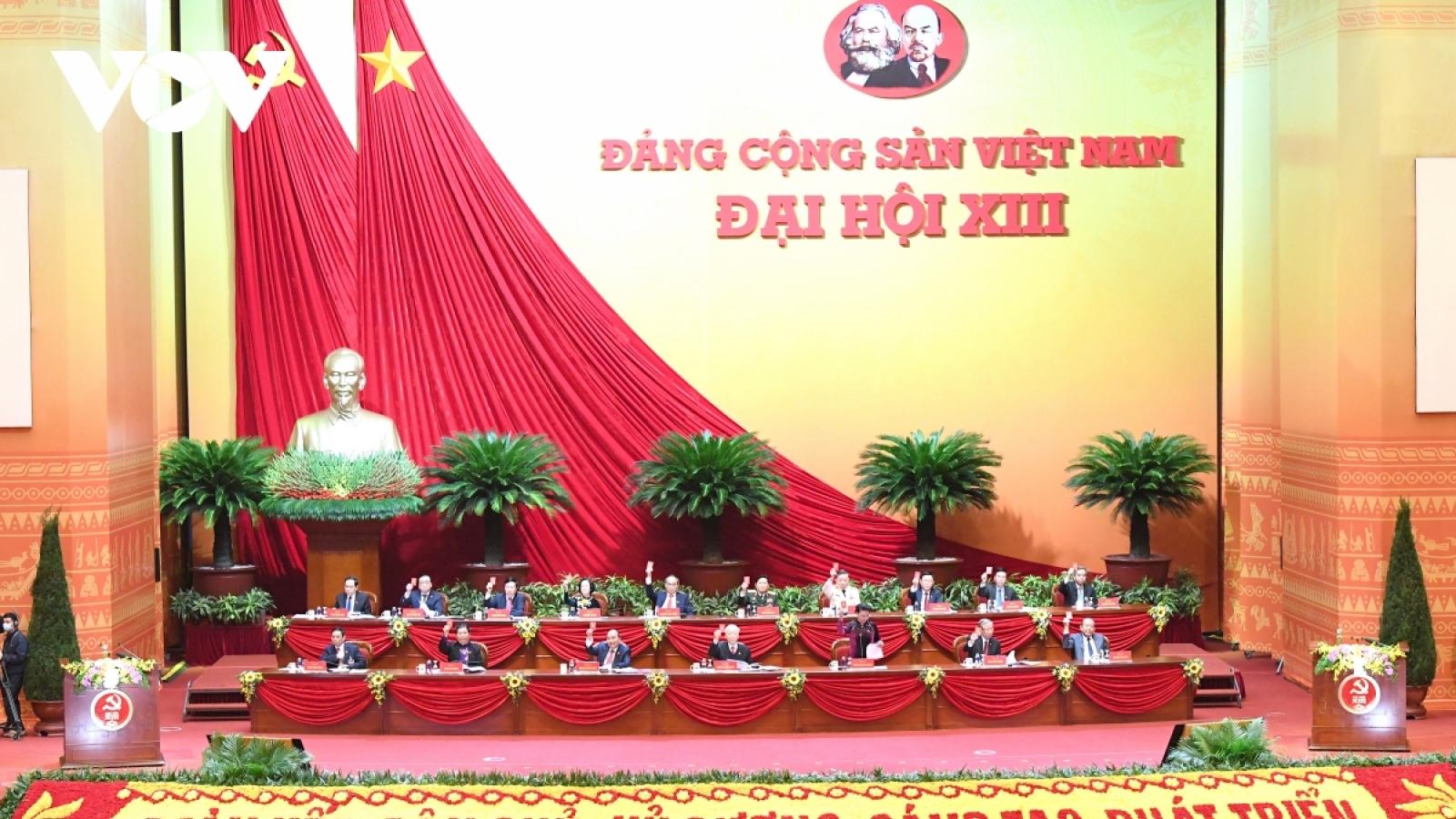 Đại hội thông qua số lượng Ban Chấp hành Trung ương khoá XIII gồm 200 ủy viên