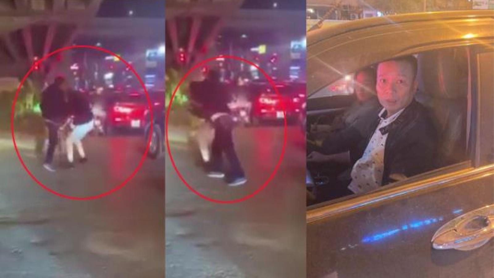 Di lý tài xế xe bán tải đánh gãy răng người đi đường từ Lào Cai về Hà Nội