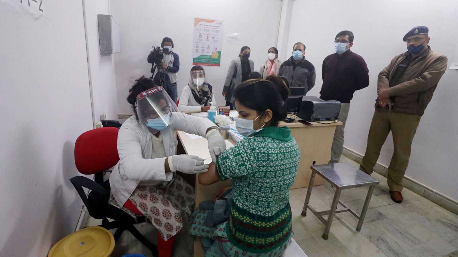 Ấn Độ diễn tập tiêm chủng đại trà vaccine Covid-19 lần 2