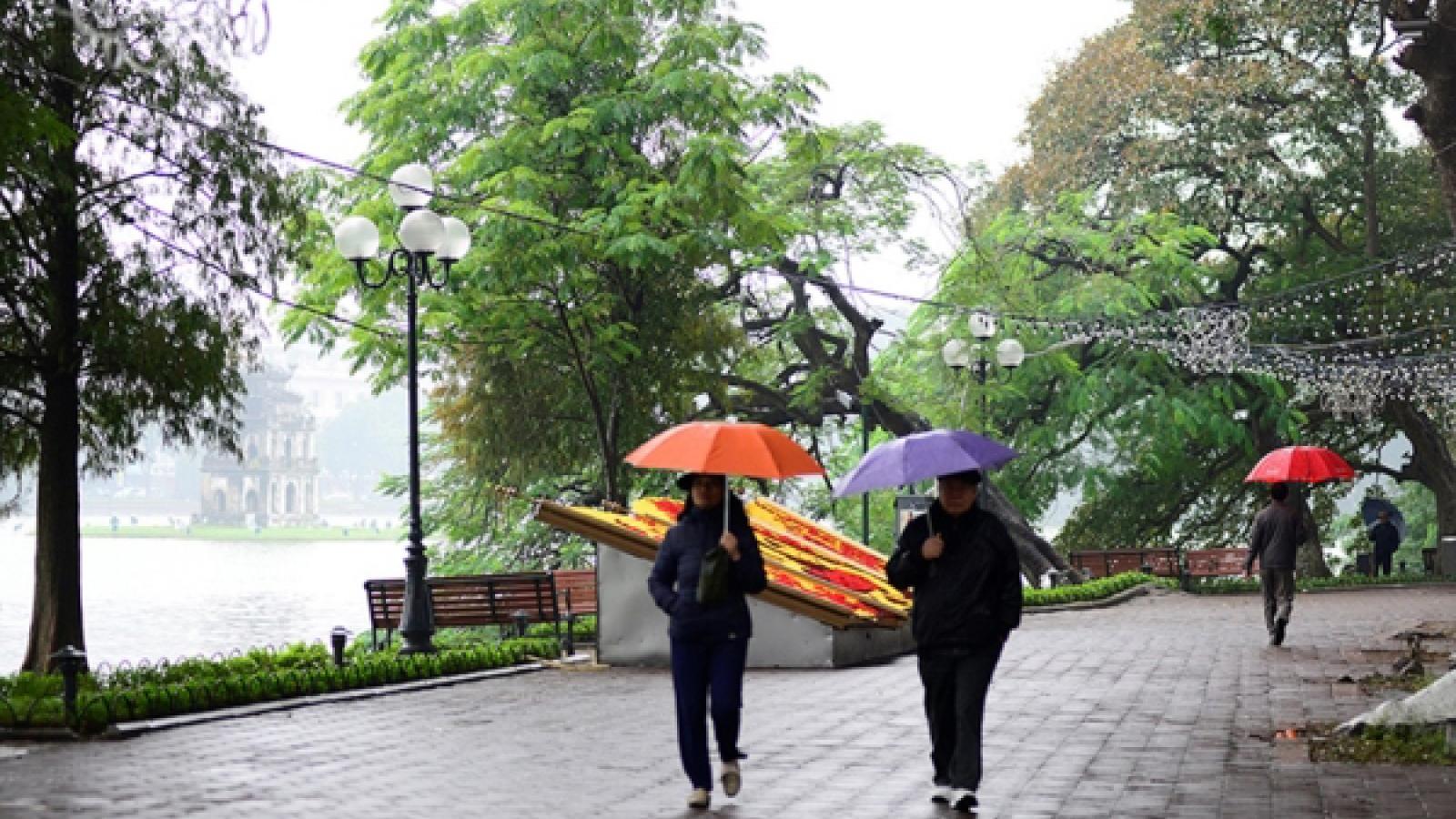 Thời tiết ngày 31/1: Không khí lạnh suy yếu, Hà Nội có mưa nhỏ