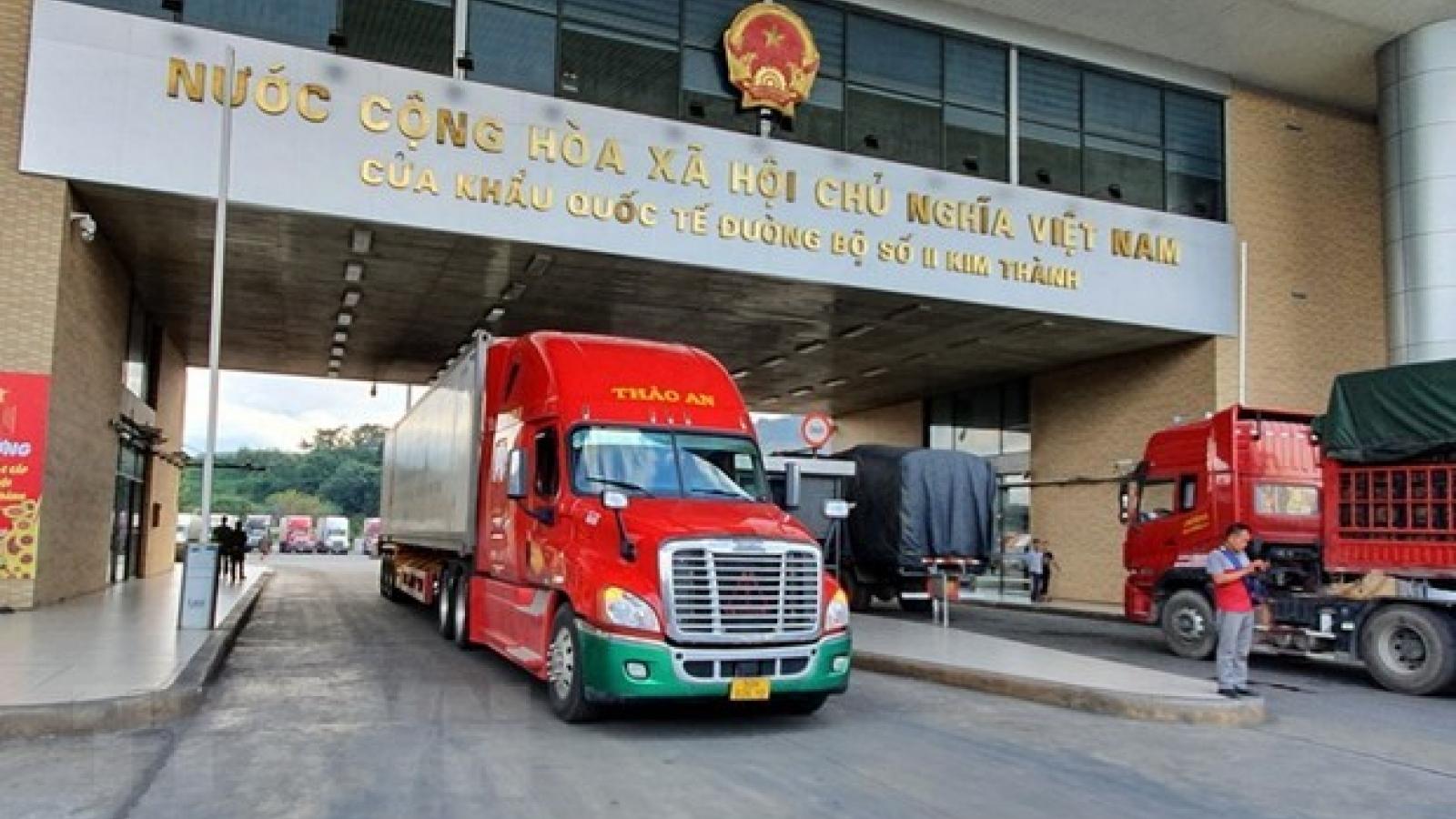 Import-export value through Lao Cai's border gates declines due to COVID-19