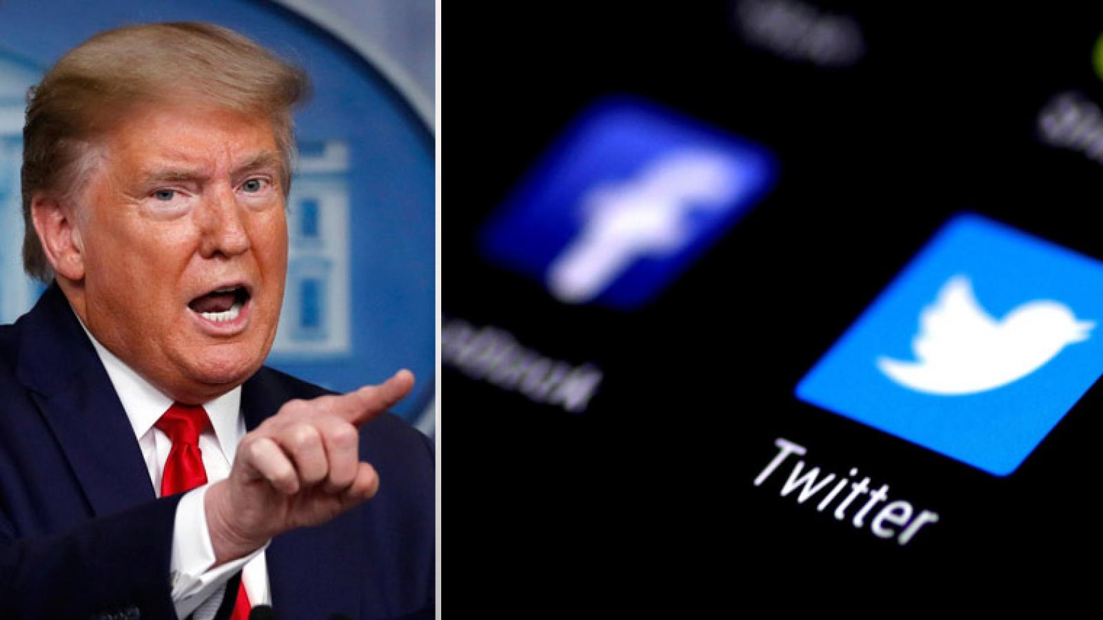 """Sau Twitter, các nền tảng xã hội lớn tiếp tục ngăn """"cuộc chơi"""" của ông Donald Trump"""