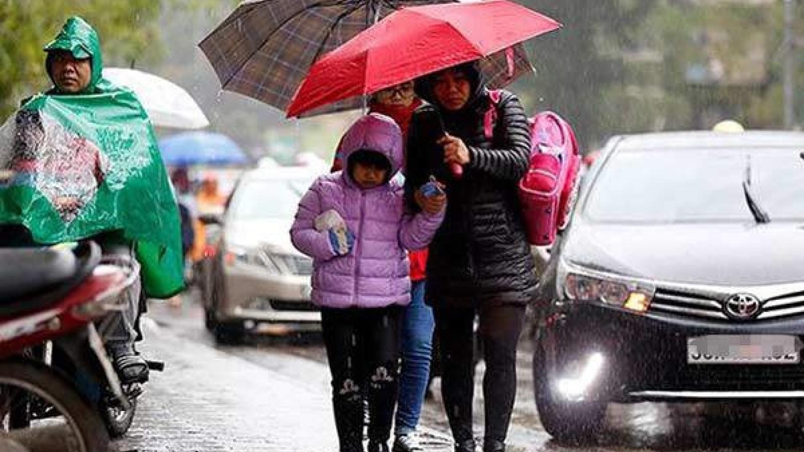Thời tiết ngày 29/1: Hà Nội mưa phùn, nhiệt độ giảm sâu toàn miền Bắc