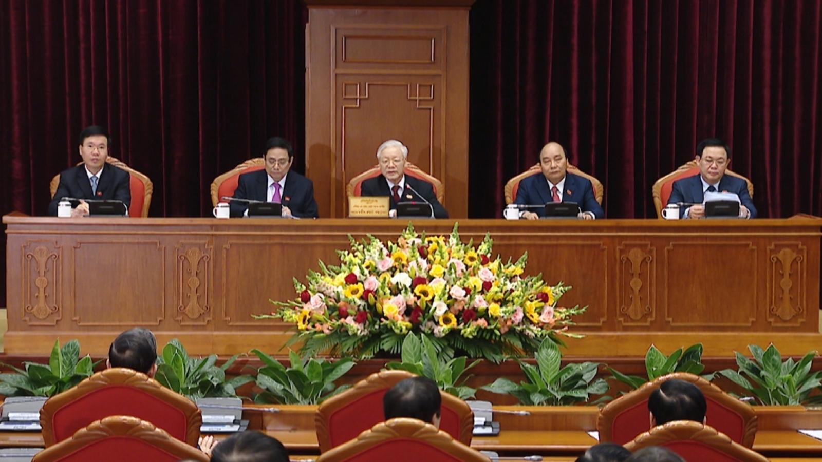13th-tenure Politburo of 18 members elected
