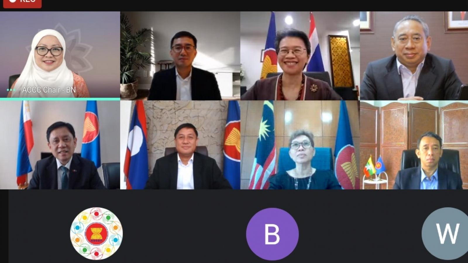 Cuộc họp đầu tiên năm 2021 của Ủy ban Điều phối Kết nối ASEAN