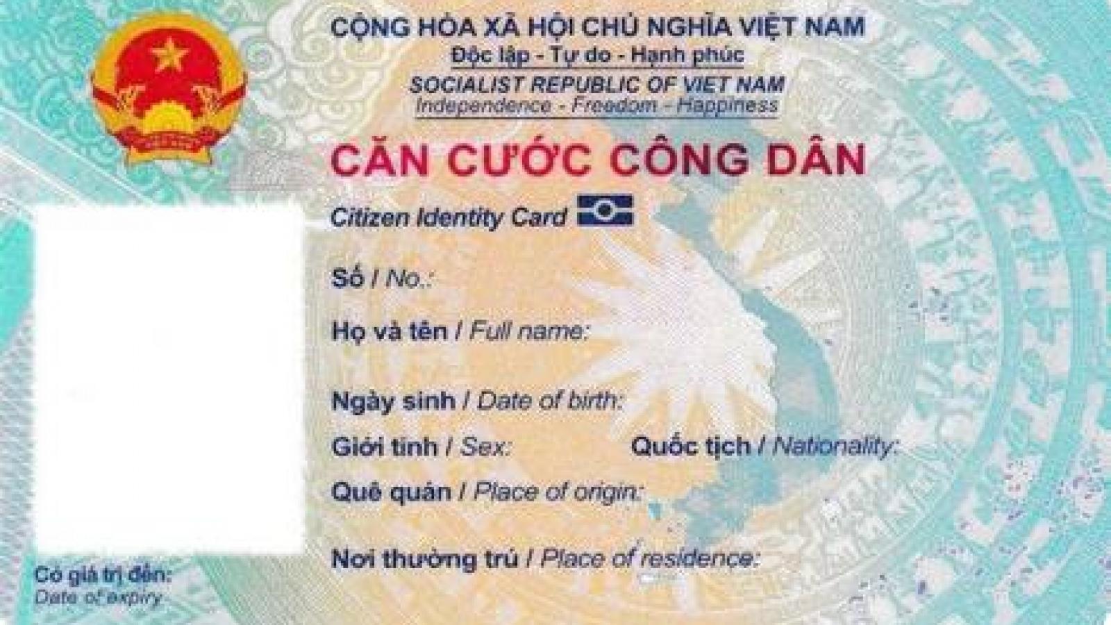 Chi tiết mẫu thẻ căn cước công dân gắn chíp điện tử