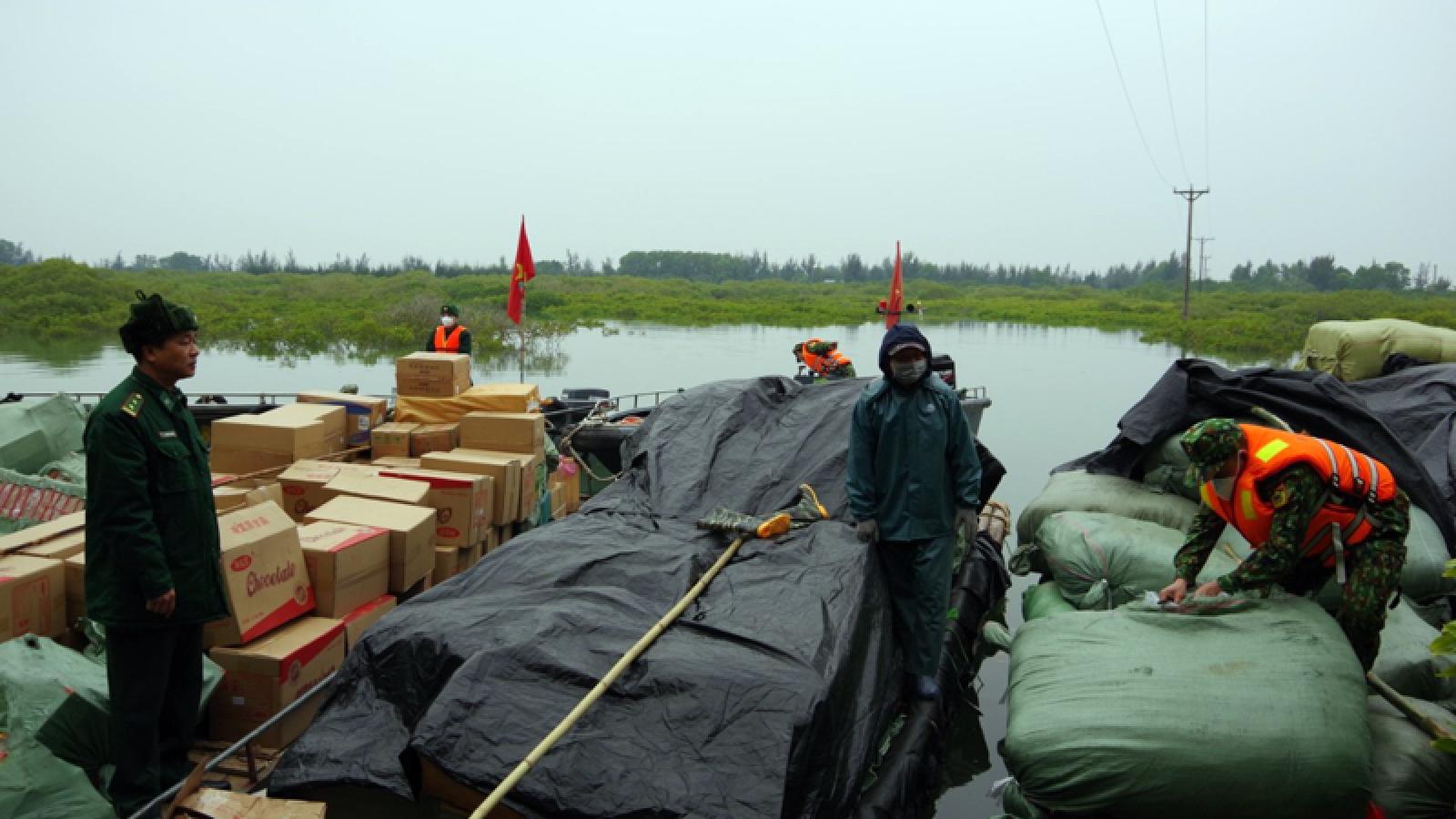 Bắt giữ 9 tấn hàng hóa nhập lậu qua biên giới