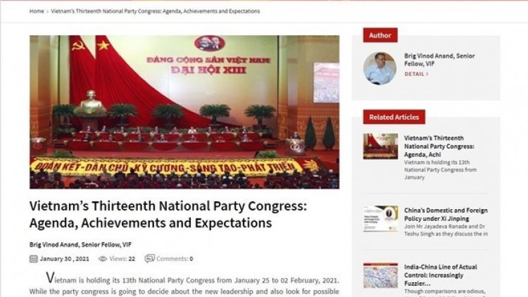 Indian researcher highlights Vietnam's achievement under Party leadership