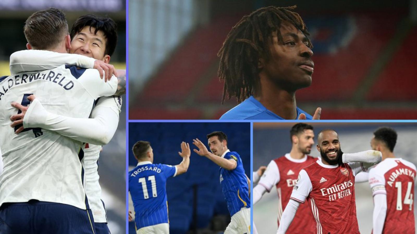 Bảng xếp hạng Ngoại hạng Anh mới nhất: Tottenham vào tốp 3, MU thổi lửa vào Liverpool