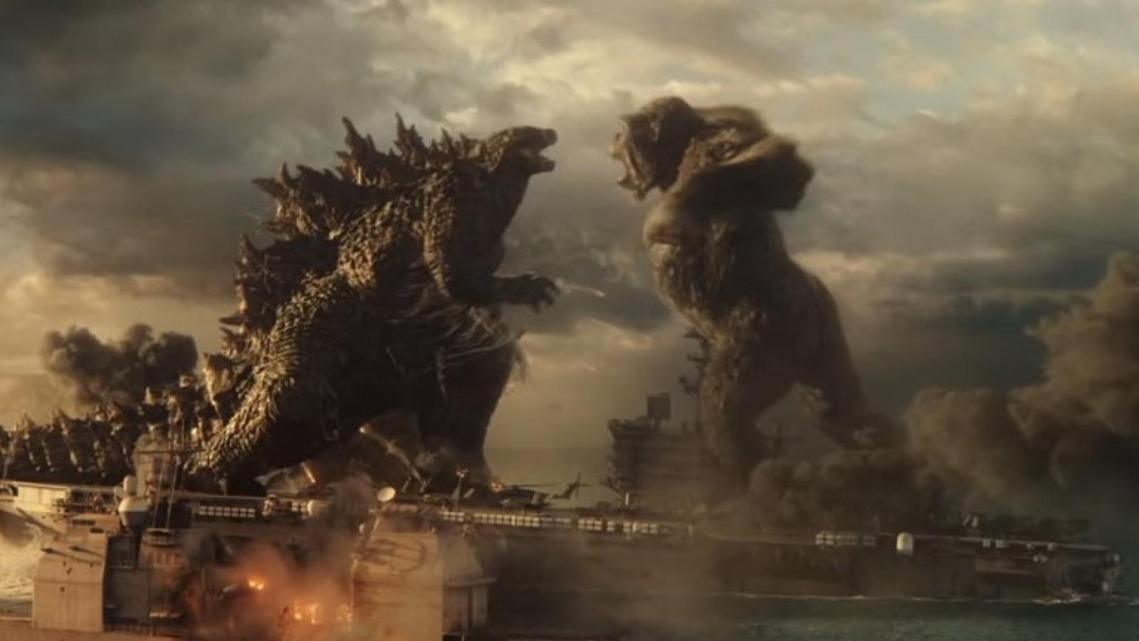 Hai siêu quái vật Godzilla và Kong đại chiến trong trailer mới nhất
