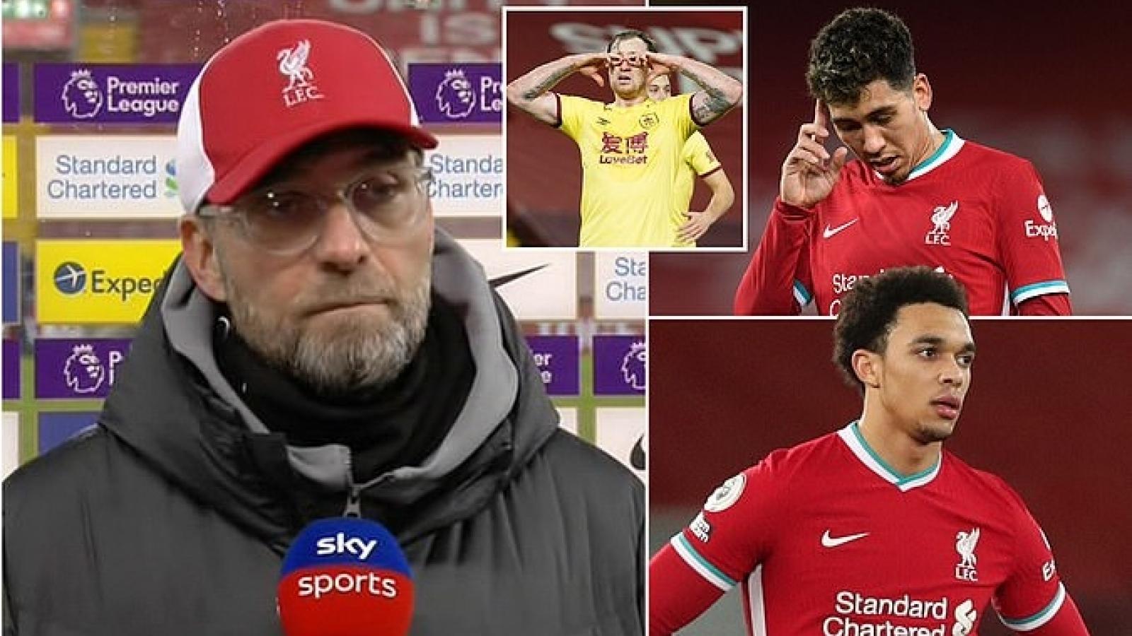 Liverpool đứt chuỗi 68 trận bất bại ở Anfield, Jurgen Klopp cúi đầu nhận lỗi