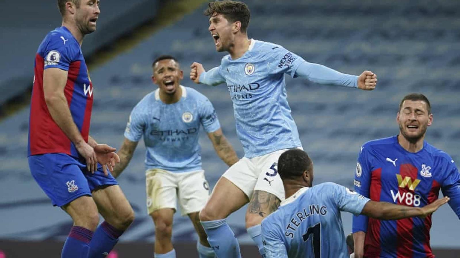Đè bẹp Crystal Palace, Man City đe dọa ngôi đầu Premier League của MU