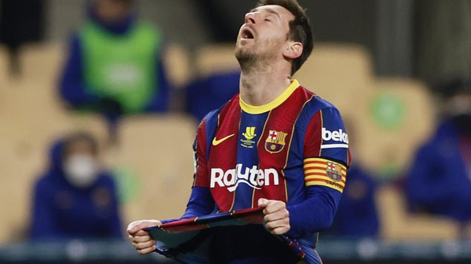 Nhận thẻ đỏ đầu tiên ở Barca, Messi bị treo giò 2 trận